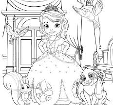 Sofia The First Coloring Page Disney Family Coloring Pages For Printable