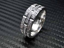 mens eternity rings crafted 14k white gold mens diamond wedding band engagement