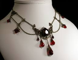 red crystal choker necklace images Blood red crystal brass steampunk choker titanic temptations jewelry jpg