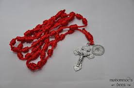 rosary twine confirmation knotted twine rosary featuring a holy spirit holy