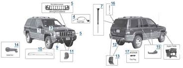 1998 jeep grand bumper zj grand parts 4 wheel parts