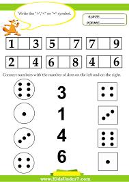 prek kinder math cut and kids worksheets paste early childhood