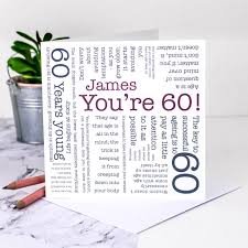 60 Birthday Cards 60th Birthday Card You Re 60 Quotes By Coulson Macleod