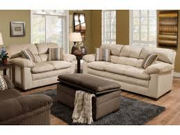Chenille Sofa And Loveseat Living Room Lakewood Oversized Sofa Loveseat Set Beige Orange