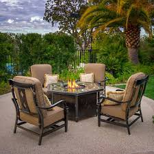 Patio Table With Firepit Outdoor Pits Chat Sets Costco