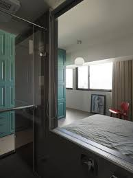 Interior Interior Simple Apartment Living Modern Master Bedroom With Glass Bathroom In Small Taiwanese
