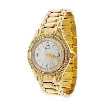 piaget tanagra piaget gold diamond of pearl wristwatch at 1stdibs