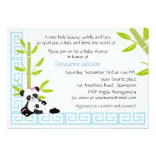 Panda Baby Shower Invitations - panda themed baby shower invitations u0026 announcements zazzle co uk