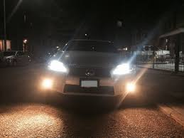 lexus yellow fog light capsule 6000k headlights clublexus lexus forum discussion