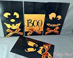 Halloween Goodie Bags Halloween Treat Bags Etsy