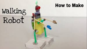 life hacks 2017 how to make a walking robot at home easy to