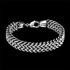 stainless steel snake bracelet images Stainless steel double side snake chain bracelet zenup jpg