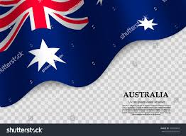 New South Wales Flag Waving Flag Australia On Transparent Background Stock Vector