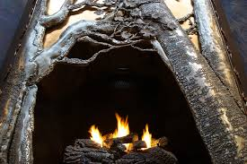 custom hand crafted metal fireplaces by the art of firelog home