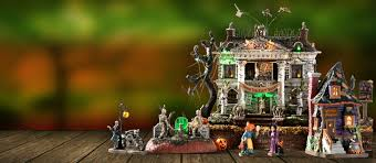 halloween background youtube lemax village collection halloween and christmas decorations