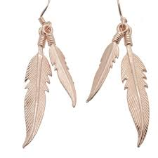 gold feather earrings gold plated sterling silver feather earrings