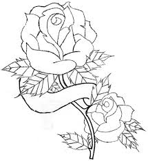 banner coloring pages roses and heart drawing free download clip art free clip art