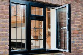 Inswing Awning Windows Casement Windows Aluminium Outside View Of An Open Black