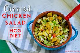 hcg diet phase 2 recipe cold curried chicken salad