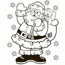 santa coloring free christmas recipes coloring pages