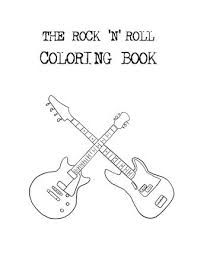 rock roll coloring free download