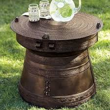 Drum Accent Table Frog Rain Drum Accent Table Pottery From Pottery Barn Home