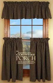Black Check Curtains Black Tea Dyed Check Curtain Valances