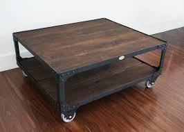 Cool Table Ls Industrial Wood Top Coffee Table Studio Set Coffee