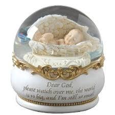 baptism snow globes baby snow globe for a nursery adorable snow globes