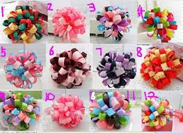 loopy bow children flower hair bow loopy bow different color mixed loop