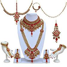 bridal jewelry buy lucky jewellery lct bridal jewellery set for women 9 pcs