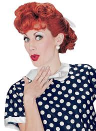 Lucille Ball No Makeup by Lucille Ball I Love Lucy Curly Costume Wig Red Costumes Com Au