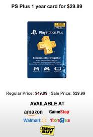 playstation plus cards black friday amazon 29 for 1 year of psn on black friday union video game forums