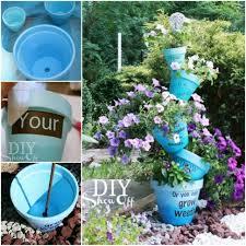 diy self watering garden planter birds feeder
