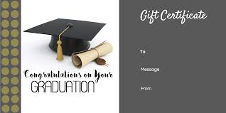 graduation gift certificate template free u0026 customizable