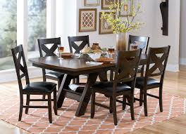 homelegance rockville dining set two tone dark light brown 5022