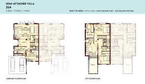 floor plans villa lantana al basha south 3 bedroom semi attached villa 4