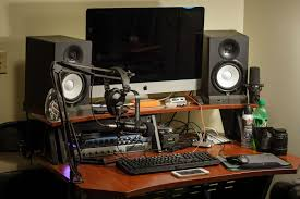 Studio Monitors On Desk by Let U0027s See Your Home Photography Workstation Photography