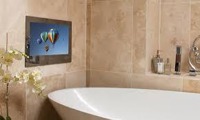 Tv Bathroom Mirror Proofvision 24 Waterproof Bathroom Mirror Tv K B Audio