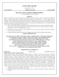 Sample Manufacturing Resume by Resume Quality Assurance Resume Sample