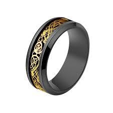 celtic ring retro scale pattern beveled edges celtic ring men