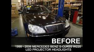 mercedes led headlights specdtuning installation video 1998 2006 mercedes benz s class