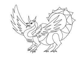 dragon black and white clipart 51
