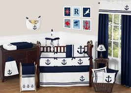 Nautical Baby Crib Bedding Sets Sweet Jojo Designs Anchors Away Nautical Baby Bedding 9pc Crib Set