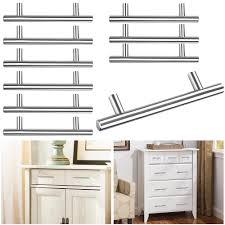 kitchen cabinet door knobs cheap 10pcs kitchen cabinet door knob t bar 6 stainless steel