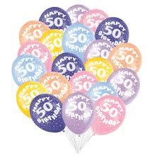 50th birthday balloons 50th birthday balloons partyrama co uk