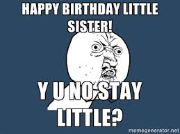 Little Sister Meme - 70 best happy birthday sister funny meme quotes wishes