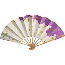 japanese fan fan paper bamboo japanese gold foil unsigned beauty jewelry