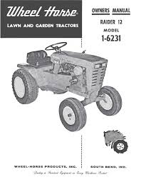 wheelhorse raider 12 owners manual 1 6231 357 documents