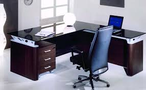 Office Desk With Glass Top Office Desk Furniture Used House Plans Ideas